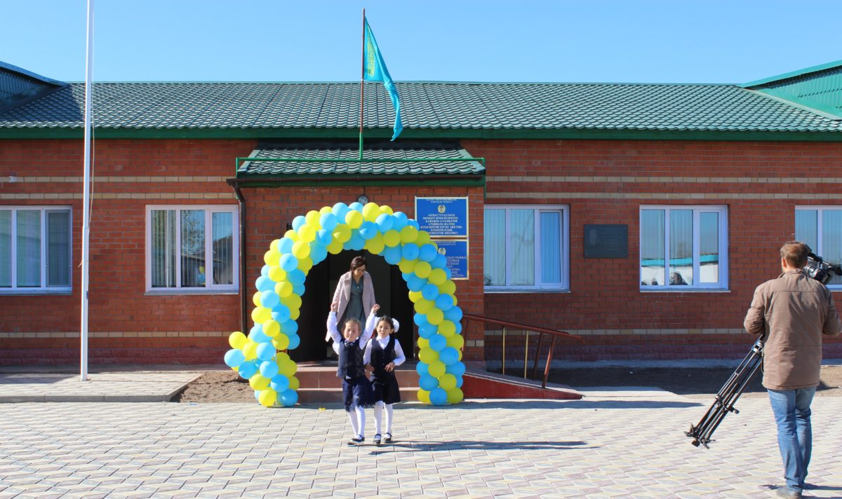 Открытие нового корпуса школы в селе Зелёная Роща.