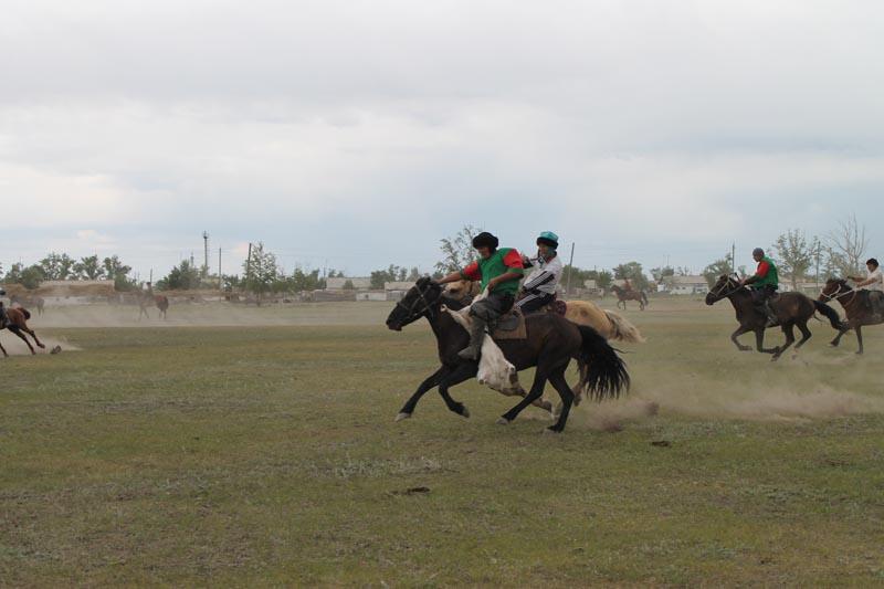 Конные состязания в селе Акколь.